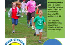 Morning Mile Celebratory Skating Party May 25th for Alachua County Schools