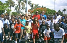 In Video & Pictures – Morning Mile Kickoff Event for 42 Miami-Dade Camps