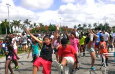 miami-dade morning mile tim hardaway fitzness parks running childhood obesity - 5
