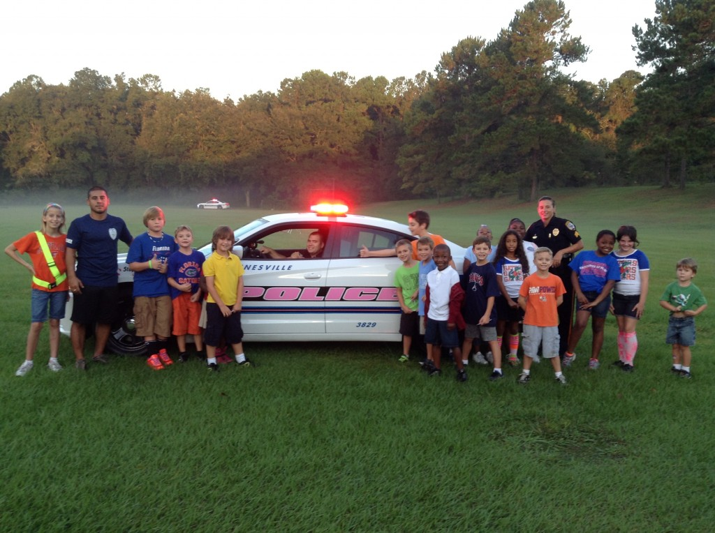 morning mile cops for a cure